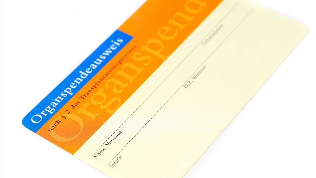 organspendeausweis online bestellen